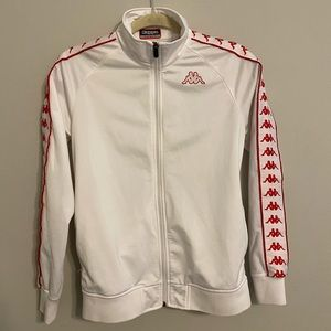 Kappa White and Red Tracksuit Jacket
